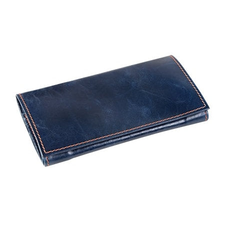 4th Generation Leather Rollup Navy Blue Pouch