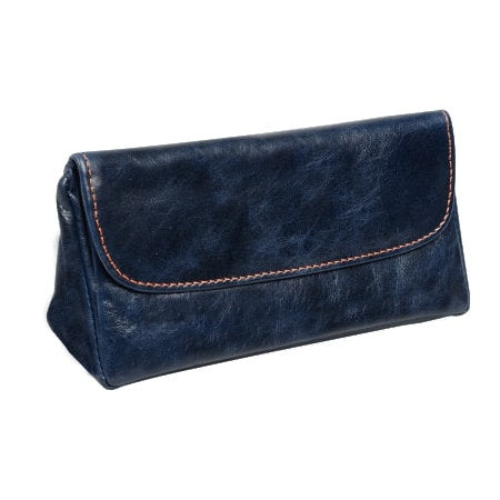 4th Generation Leather 1 Pipe Navy Blue Pouch