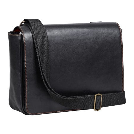 4th Generation Leather Messenger Bag Kenko Black Large