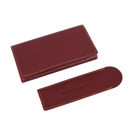 4th Generation Leather Rollup Pouch Red with Sleeve