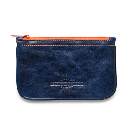 4th Generation Leather Navy Blue Zip Pouch
