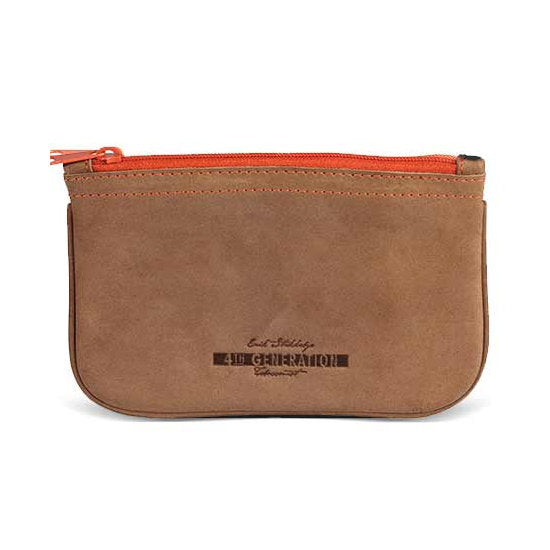 4th Generation Leather Hunter Brown Zip Pouch