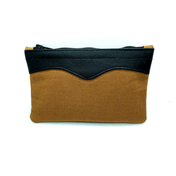 "Canvas 6"" Brown Pouch"