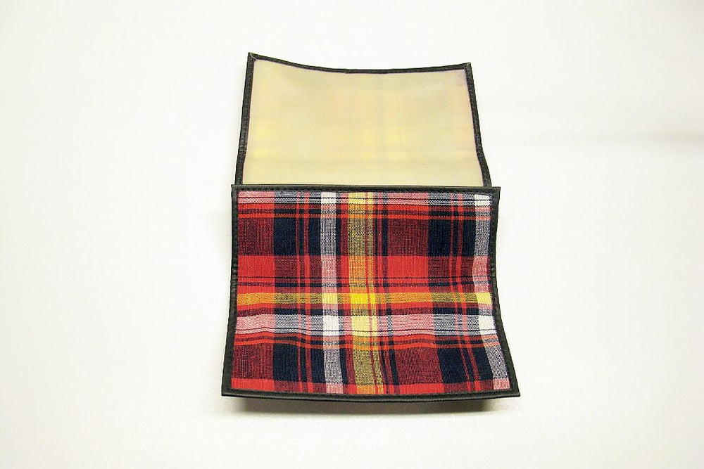 Plaid Fold Up Pouch