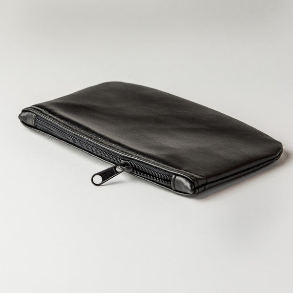 Tobacco Zipper Pouch - Black Vinyl
