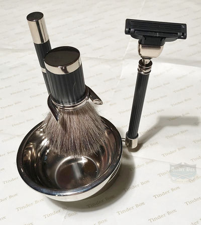 Chrome Shaving Set
