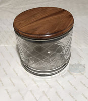 Teak tobacco jar