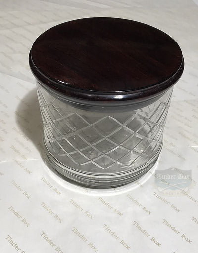 Walnut tobacco jar