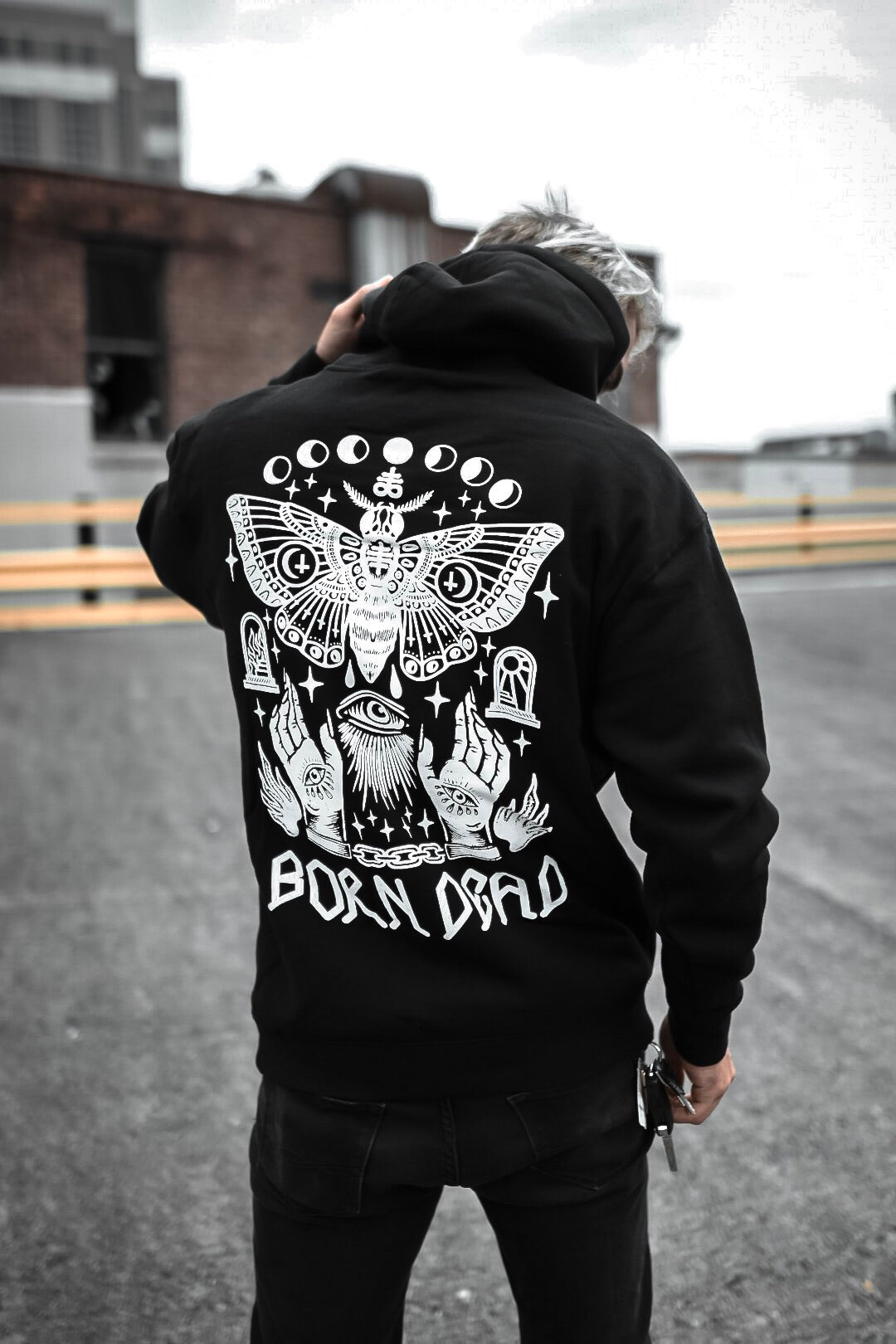 Moth Dust Tattoo Inspired Hoodie