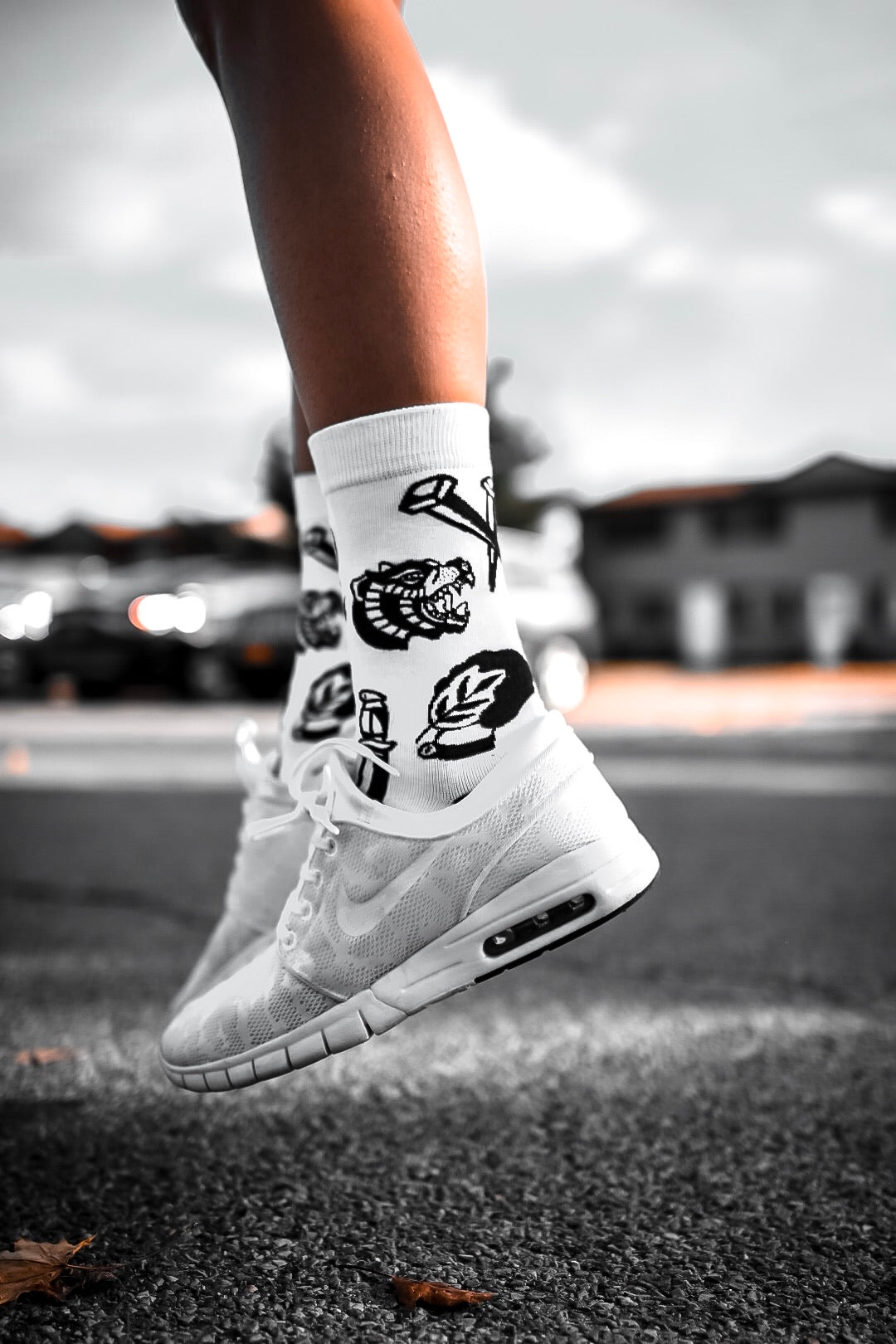 Born Dead Tattoo Inspired Socks
