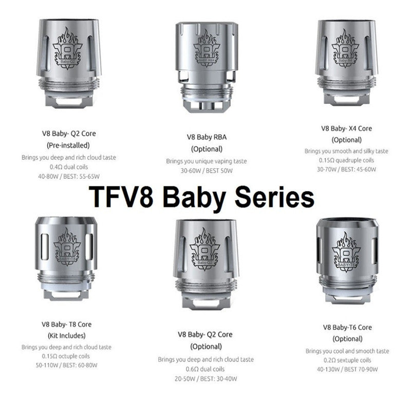 Smok TFV8 Baby 5 piece Replacement Coils M2 T8 T6 X4 Q2