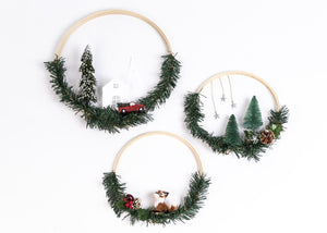 DIY Winter Scene Hoops
