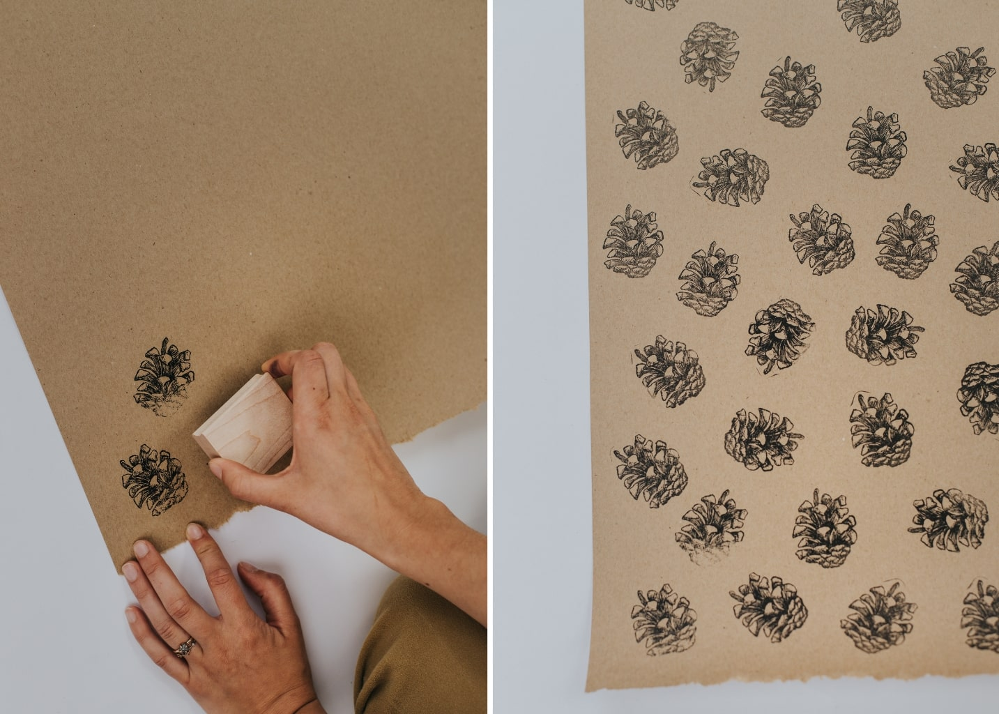 DIY Stamped Wrapping Paper Rettel Roller