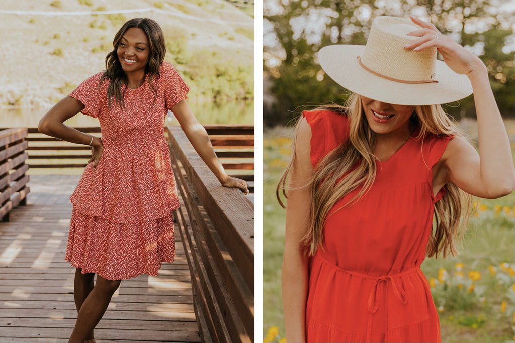 4th of July Red Dresses