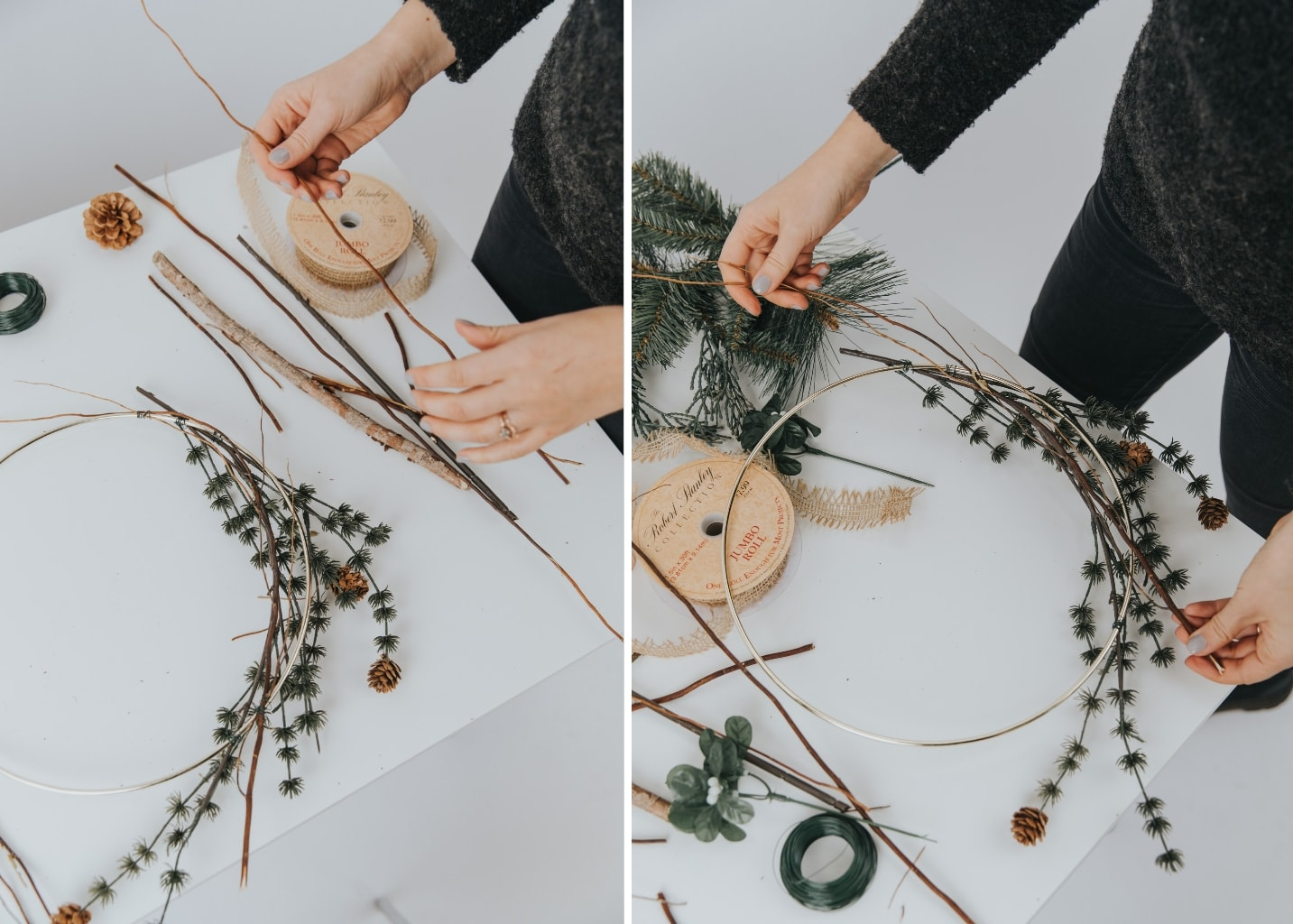 Minimal Holiday Wreath DIY