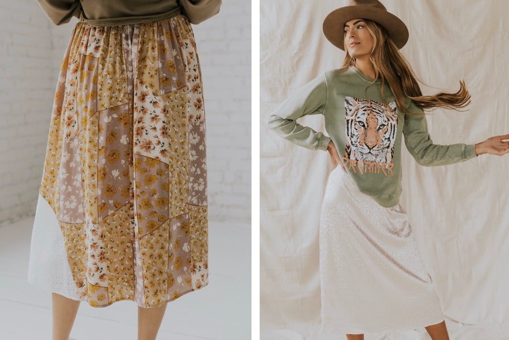 Casual Mid-Length Skirts