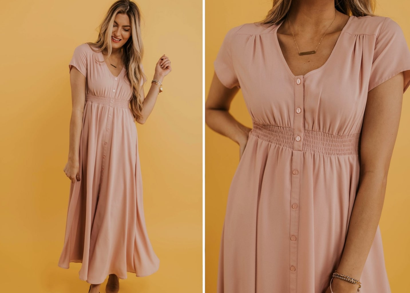 Evangeline Button Maxi