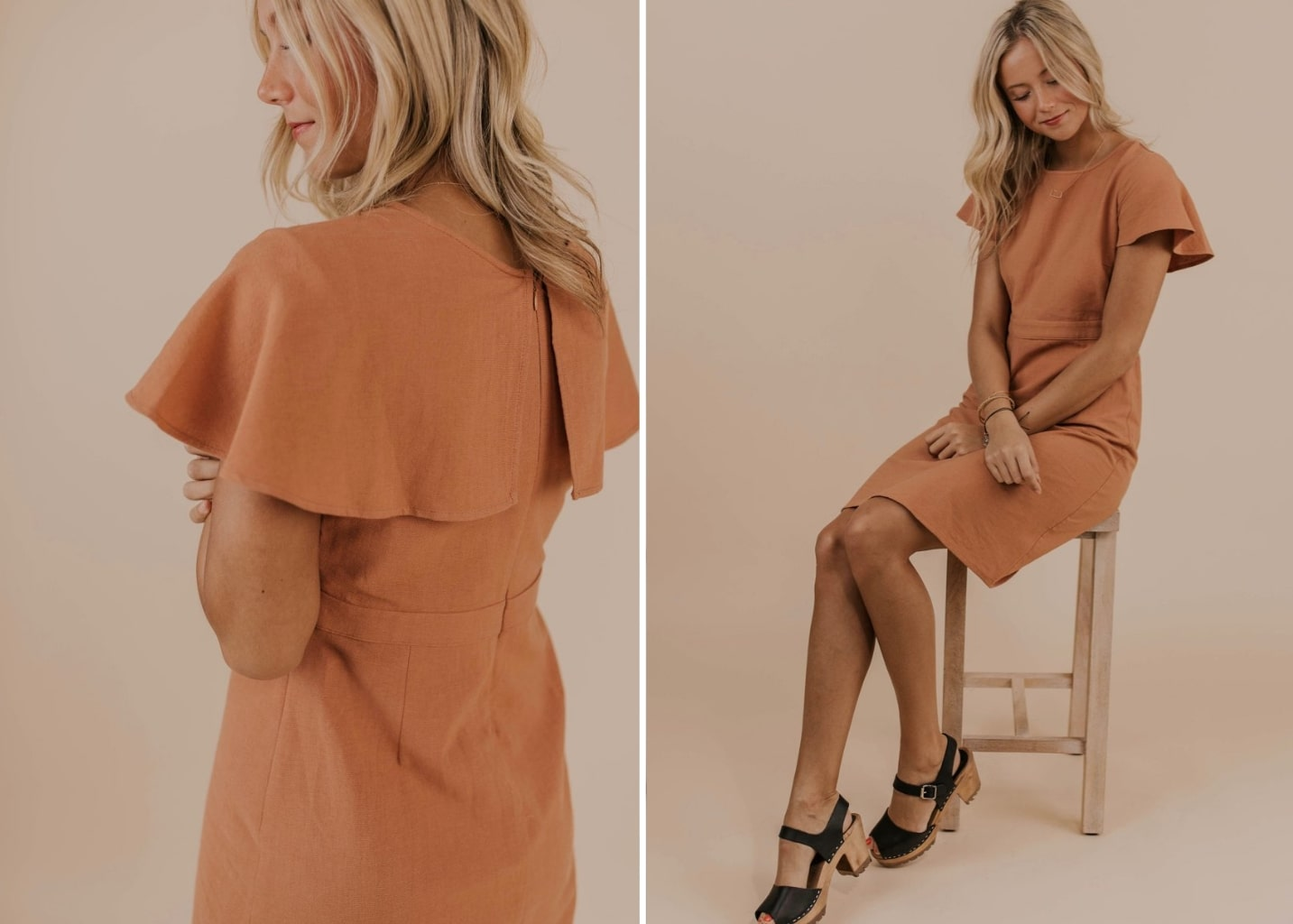 Stacy Cape Dress