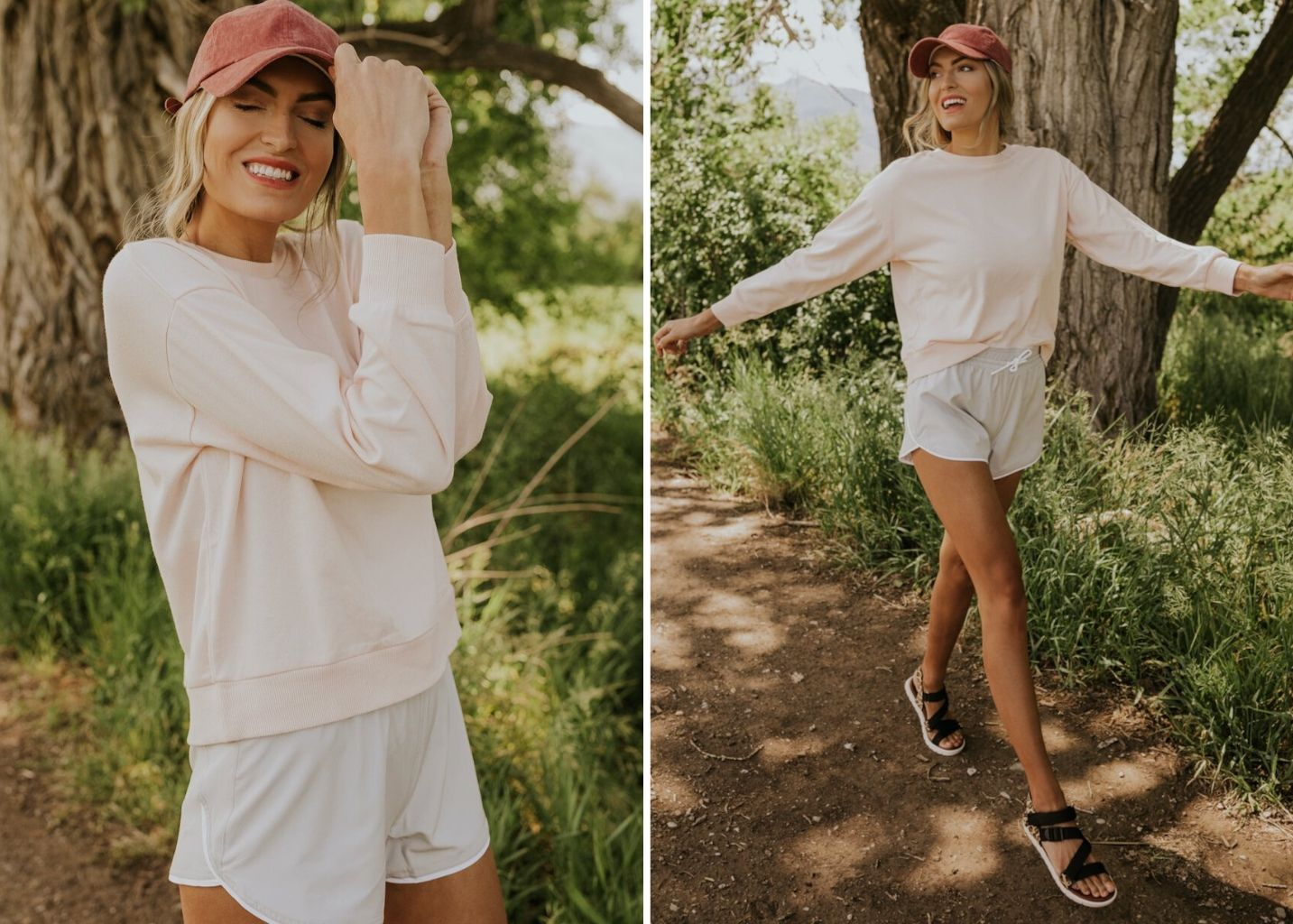 3 ways to wear ballcaps in the summer