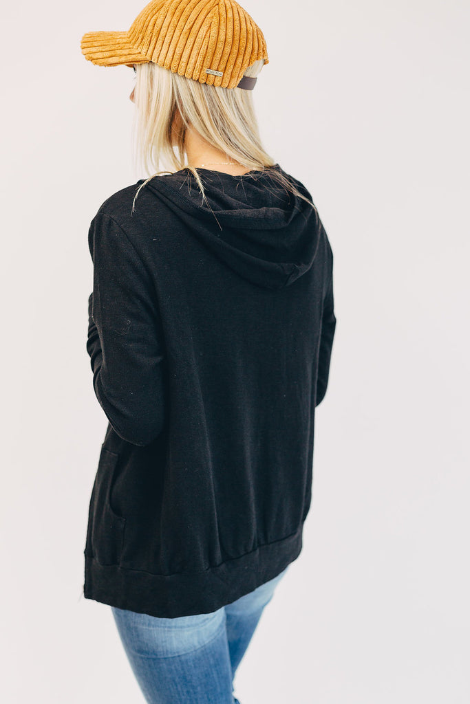 Together Again Hooded Jacket in Ebony