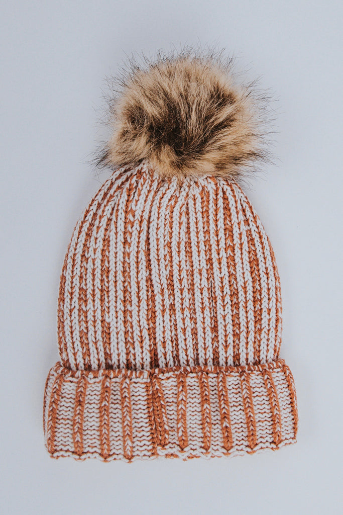 Knitted Pom Pom Beanie | ROOLEE