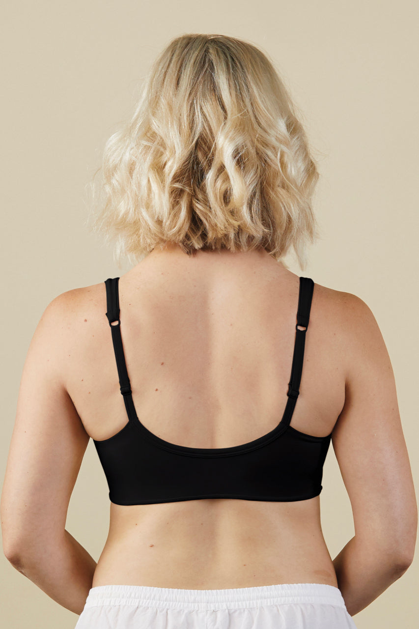 Black Maternity and Nursing Bra | ROOLEE