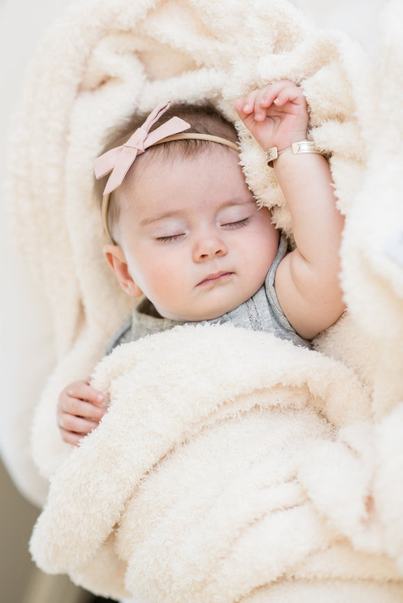 Saranoni Mini Receiving Blanket in Ivory | ROOLEE