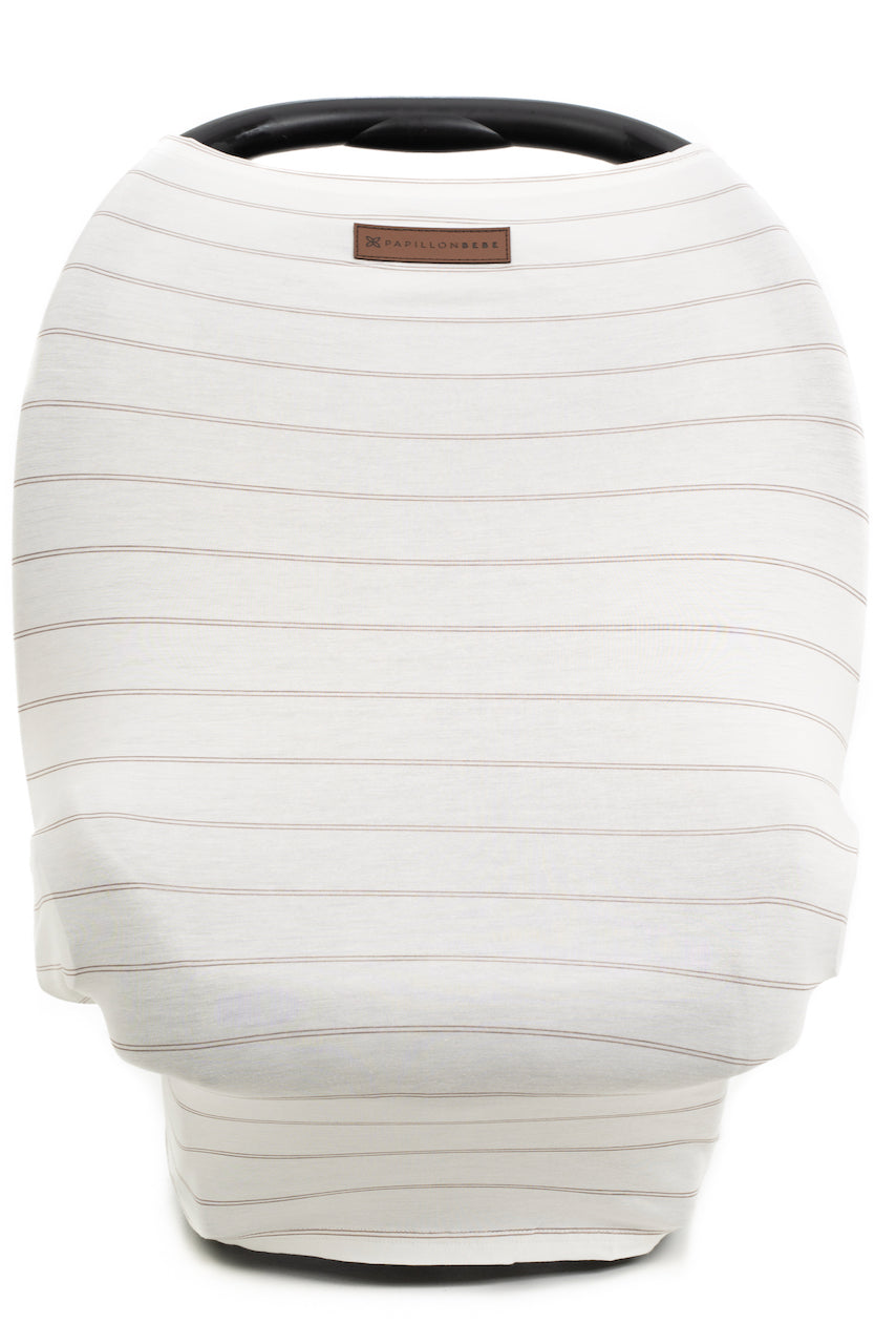 White knit carseat cover | ROOLEE