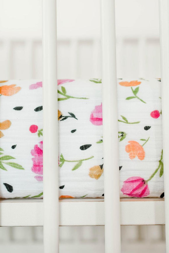 Berry + Bloom Crib Sheet