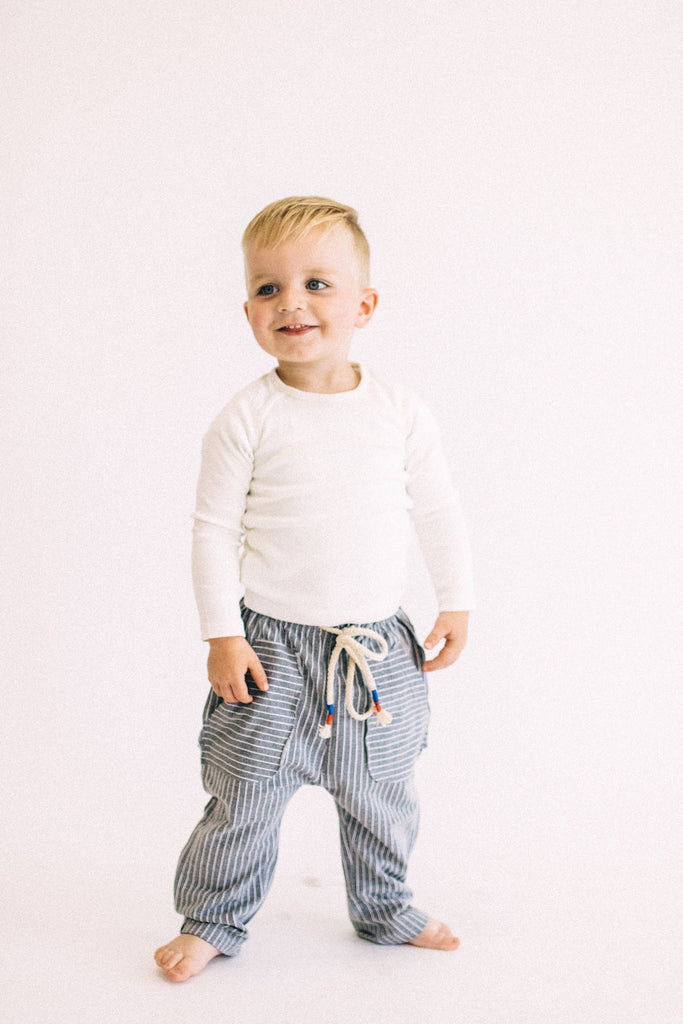 Cantwell Stripe Pants in Grey | ROOLEE Kids