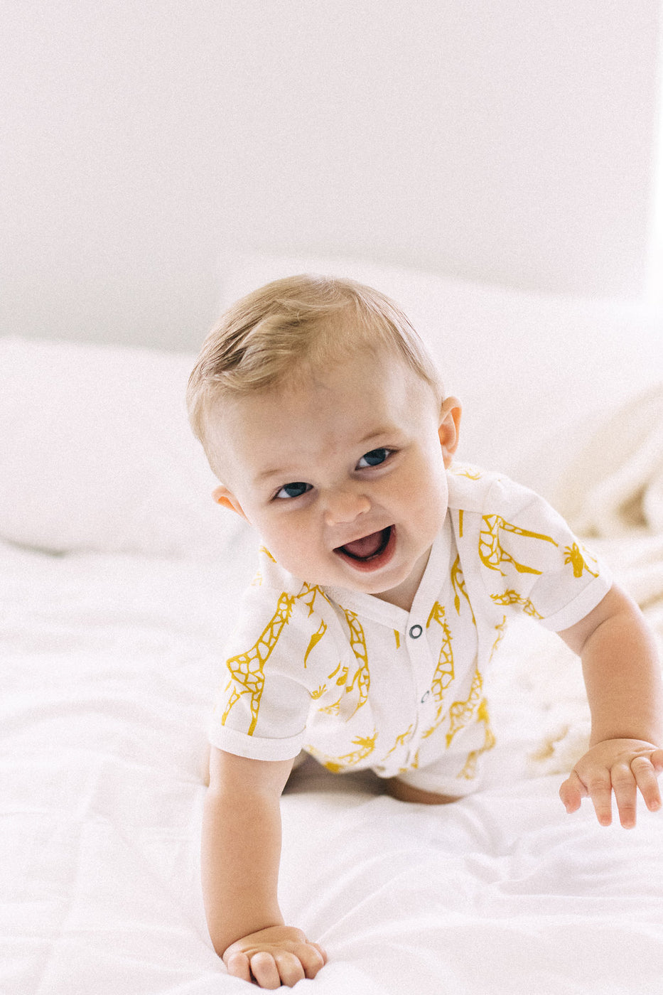 Yellow + White Romper One Piece | ROOLEE Kids