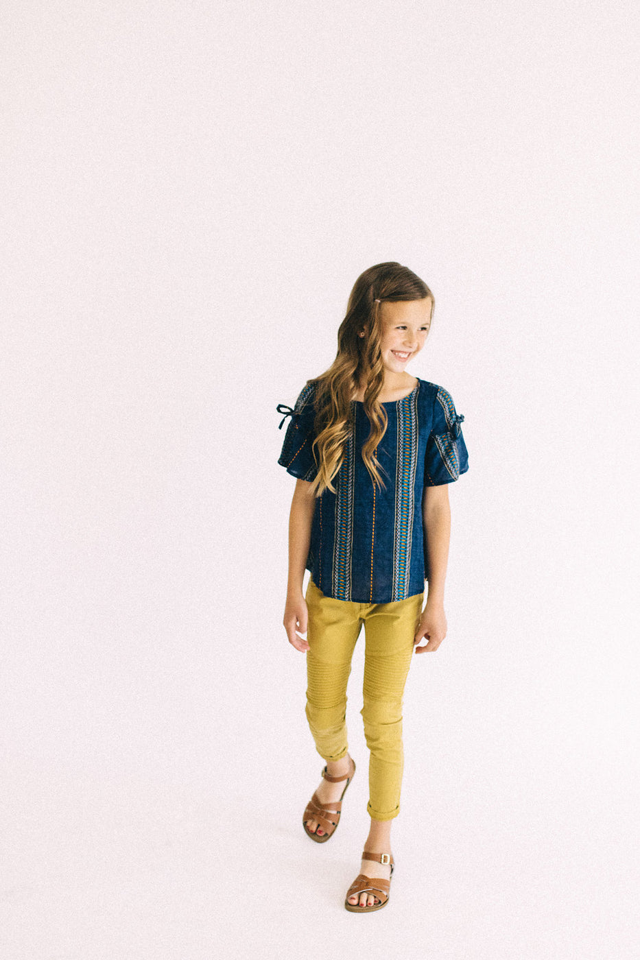 Mustard Moto Pants For Kids | ROOLEE Kids