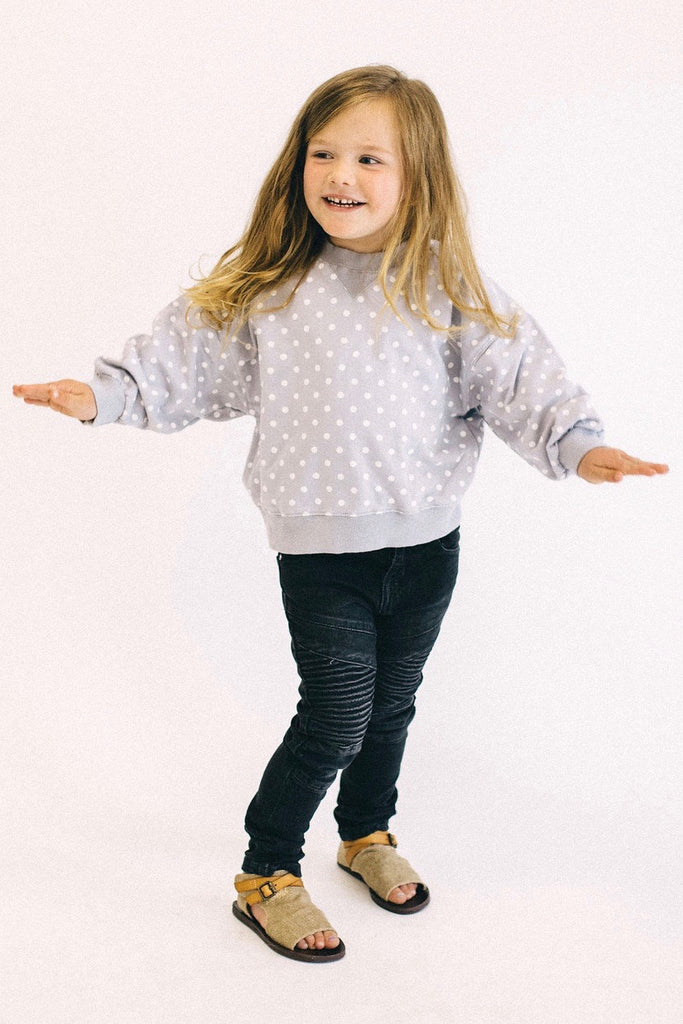 Brielle Polka Dot Pullover | ROOLEE Kids