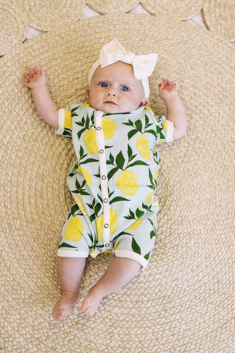 Sage Green + White One Piece Romper | ROOLEE Kids