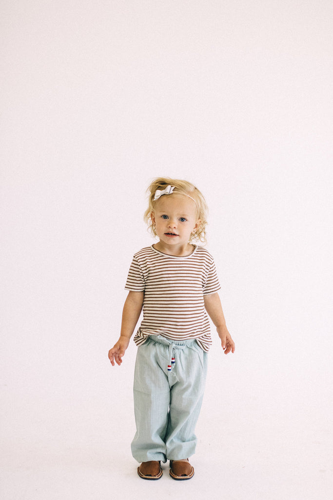 Light Blue Stretchy Joggers | ROOLEE Kids