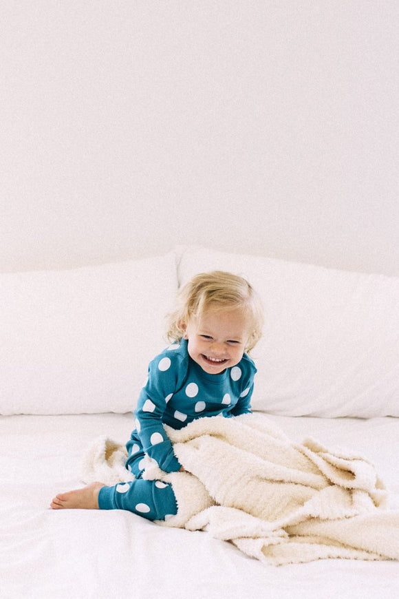 Bambi Polka Dot Set in Blue Jay | ROOLEE Kids