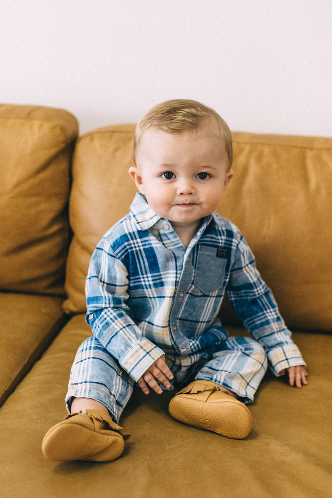 Jacob Plaid Coverall | ROOLEE Kids