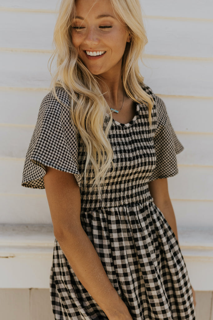 mommy and me grid dresses for fall | ROOLEE
