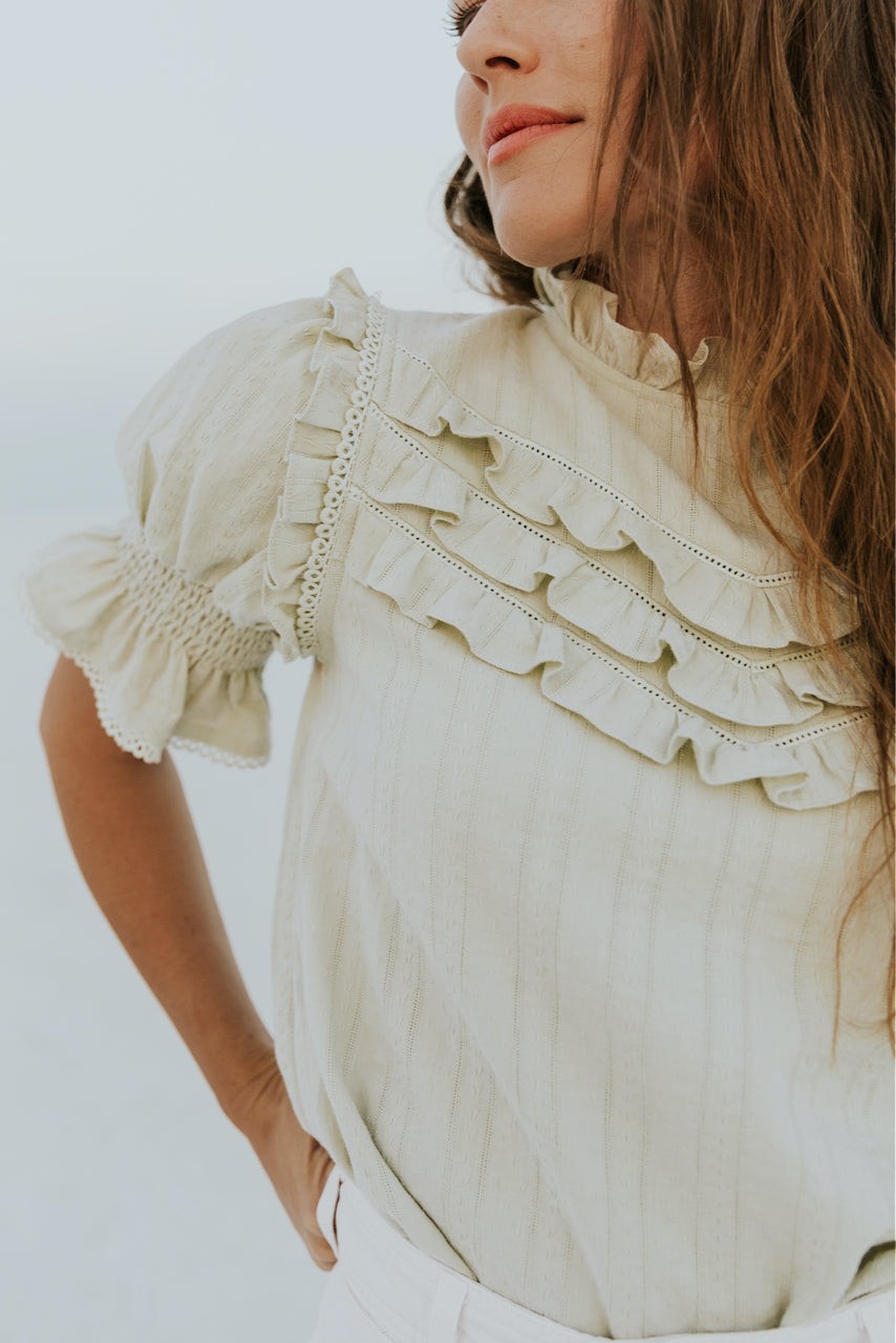 Elegant embroidered womens blouses | ROOLEE