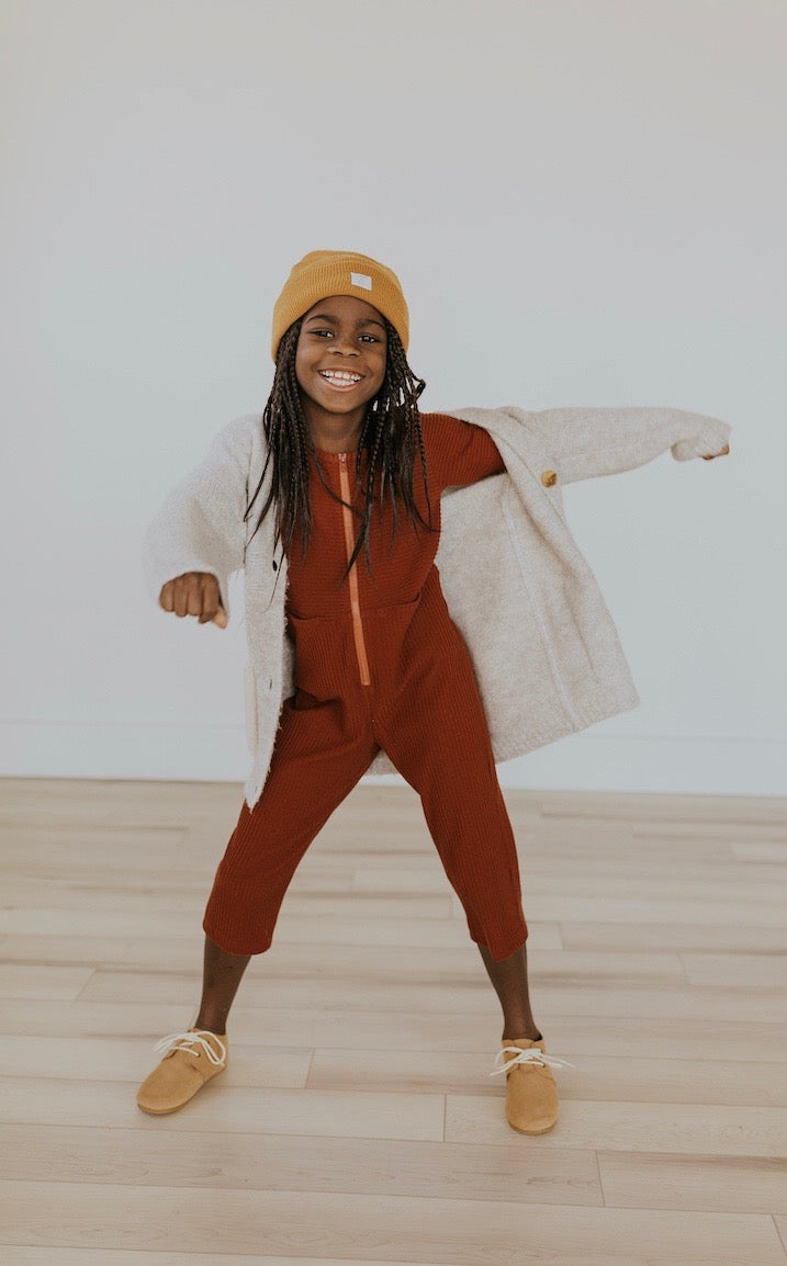 Kids red holiday jumpsuit | ROOLEE