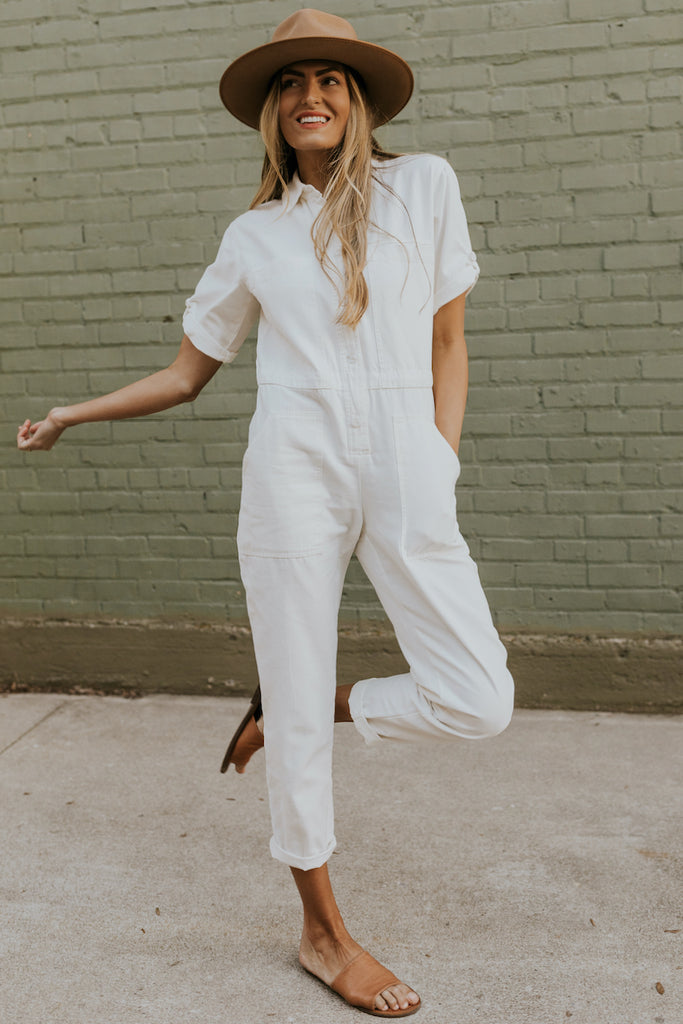 White jumpsuits for summer | ROOLEE
