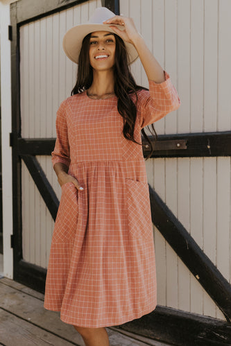 Pink modest babydoll dress | ROOLEE