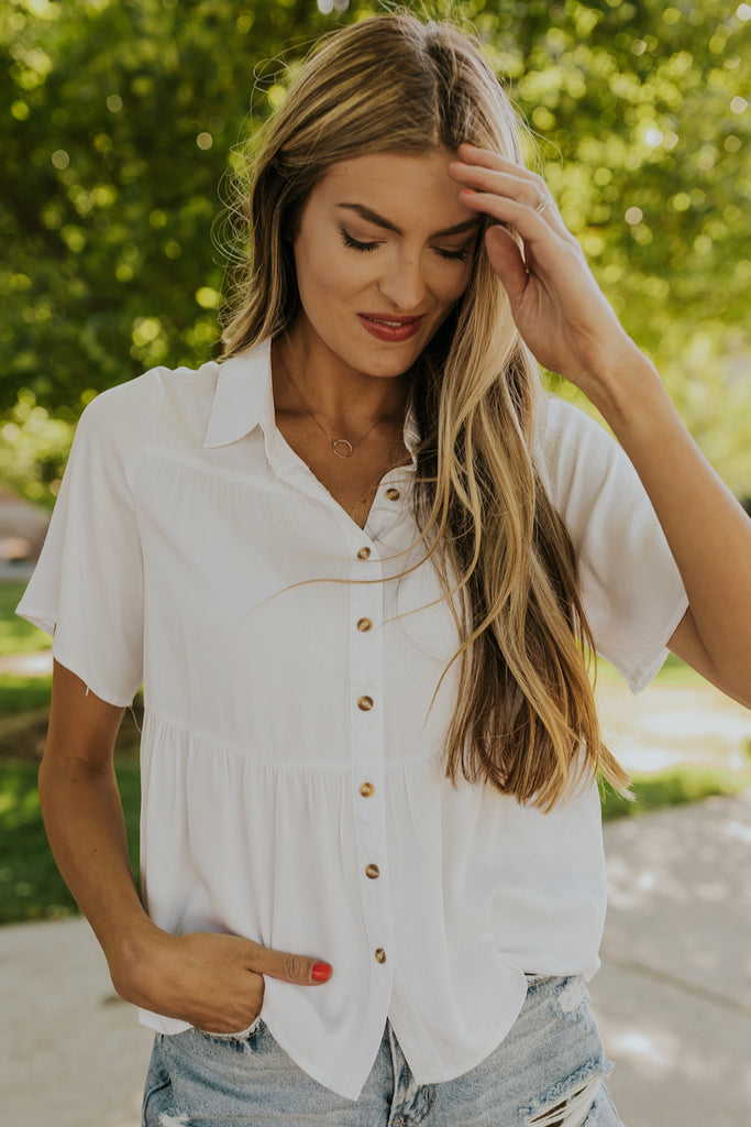 Dyer Button Blouse