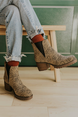 Cheetah high heeled boots | ROOLEE