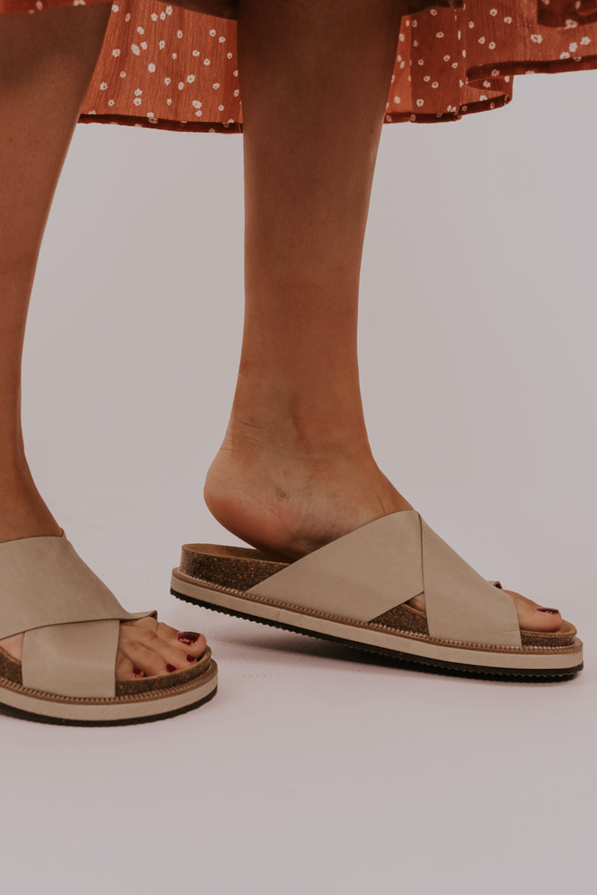 Simple neutral cute sandals | ROOLEE