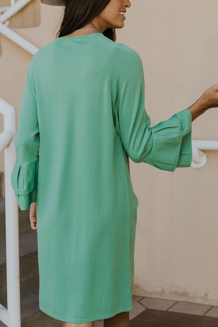Ruffle sleeve mint dress | ROOLEE