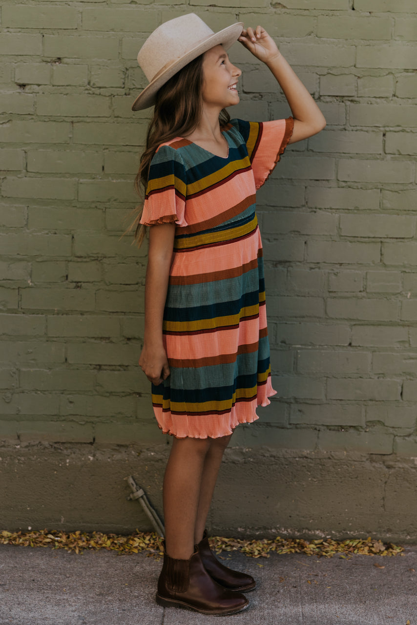 Cute bright stripe dresses | ROOLEE
