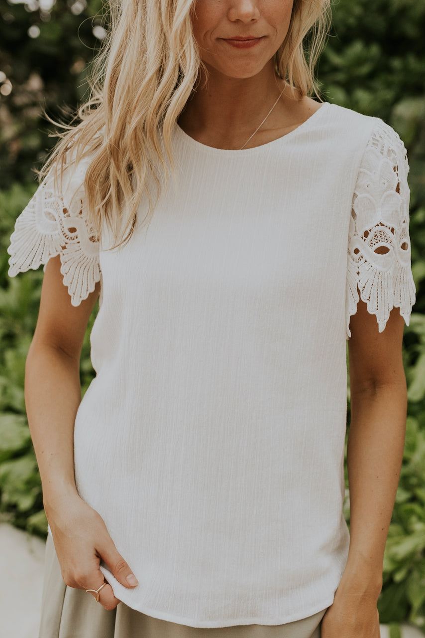 Modest white tops | ROOLEE