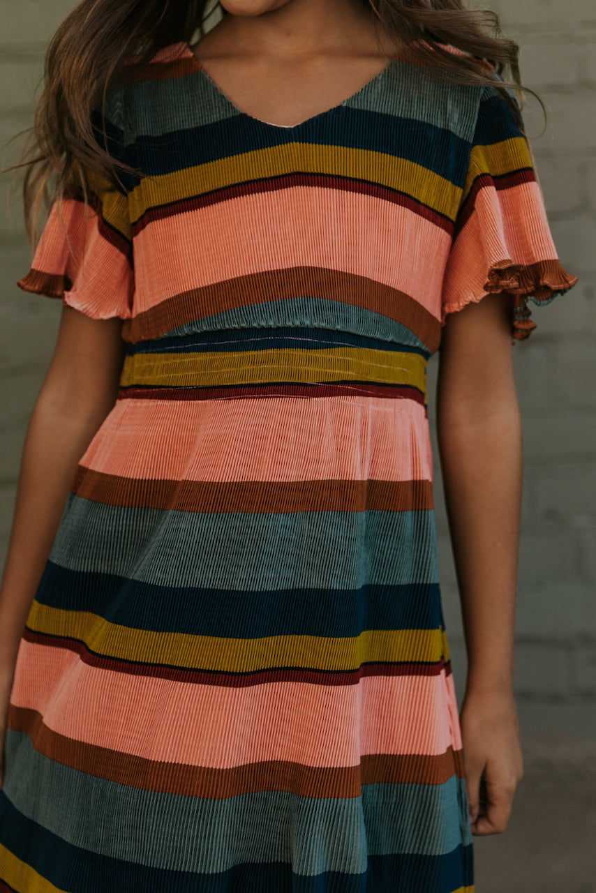 Pink stripe dresses for fall | ROOLEE