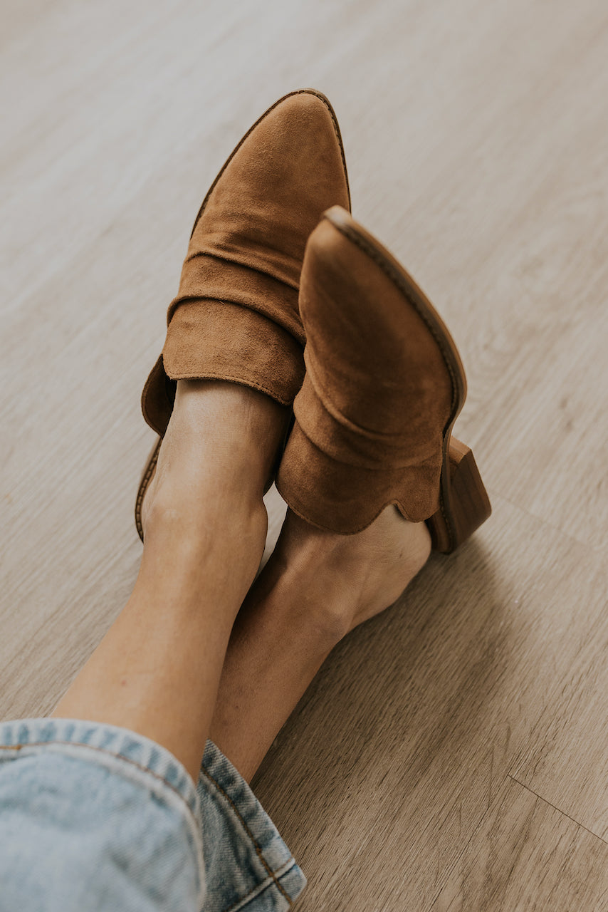 Brown leather mules | ROOLEE
